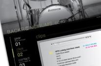 Backroom Drums website